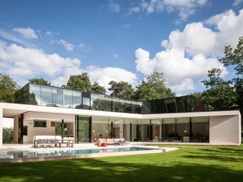 Aluminium double glazed window KELLER minimal windows® highline by Keller