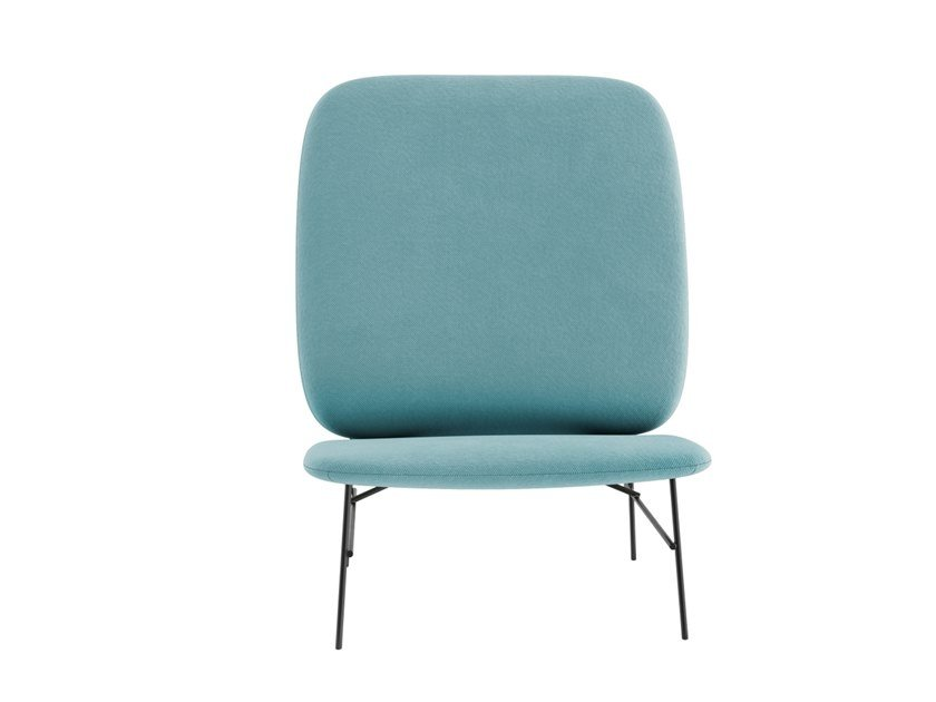 High-back fabric armchair KELLY H by Tacchini