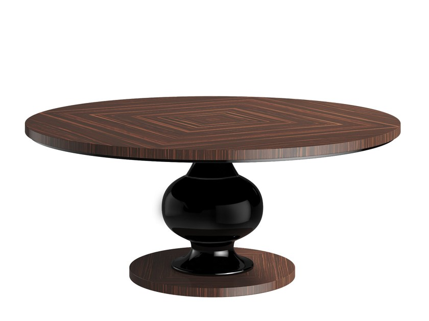 Round wooden table KEMP T by Capital Collection