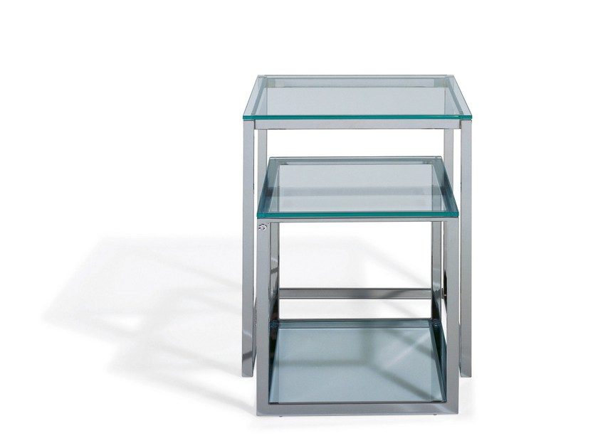Glass side table KENDO | Glass coffee table by Draenert