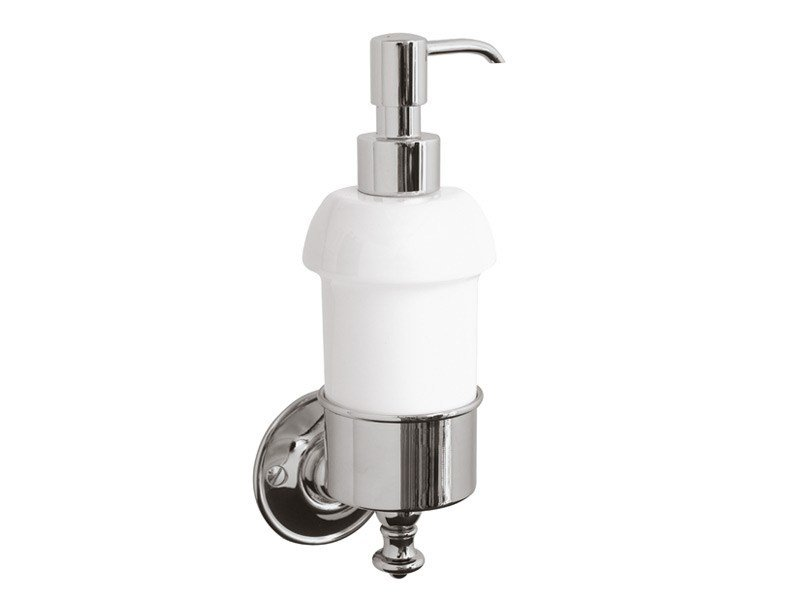 Wall-mounted ceramic liquid soap dispenser KENT | wall mounted soap dispenser by GENTRY HOME