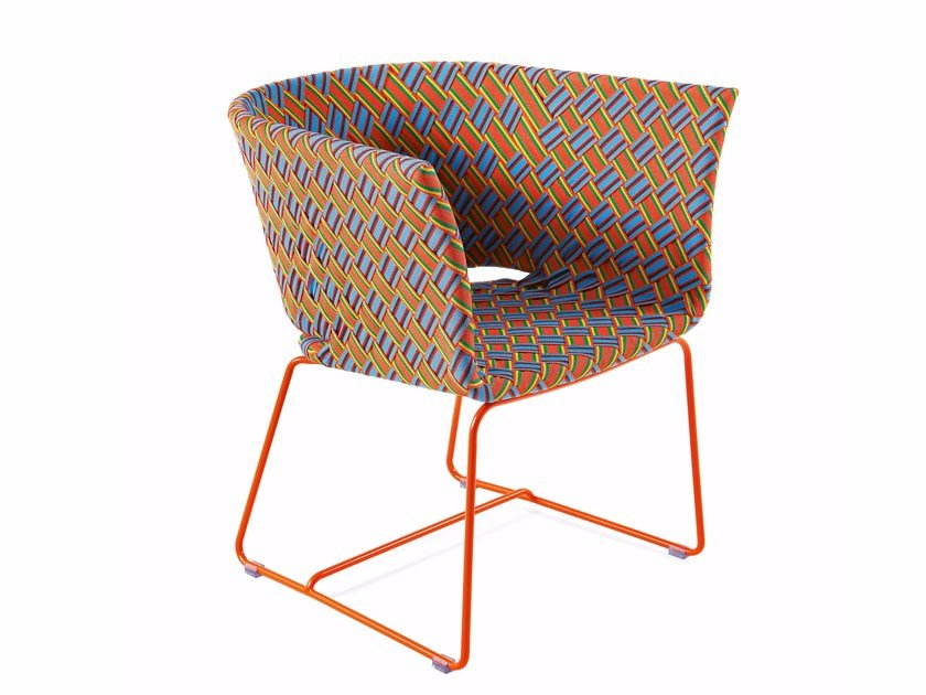 Easy chair with synthetic fiber weaving KENTE | Easy chair by Varaschin
