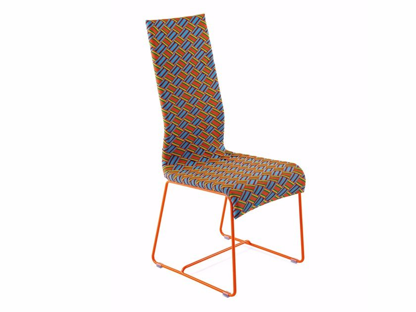 High-back chair with syntetic fiber weaving KENTE | High-back chair by Varaschin