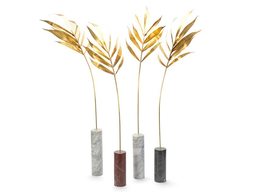 Marble decorative object KENTIA PALM by Visionnaire