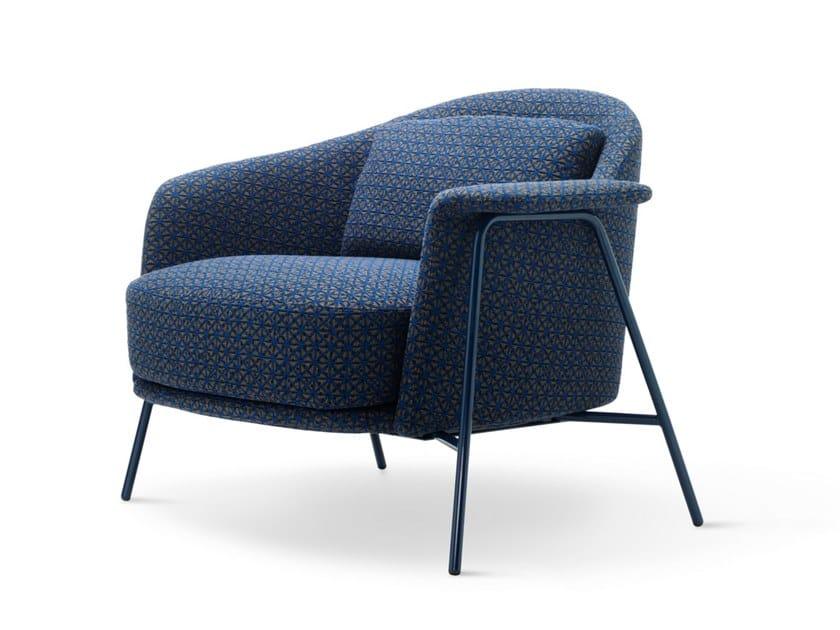 Fabric armchair with armrests KEPI | Armchair by Saba Italia