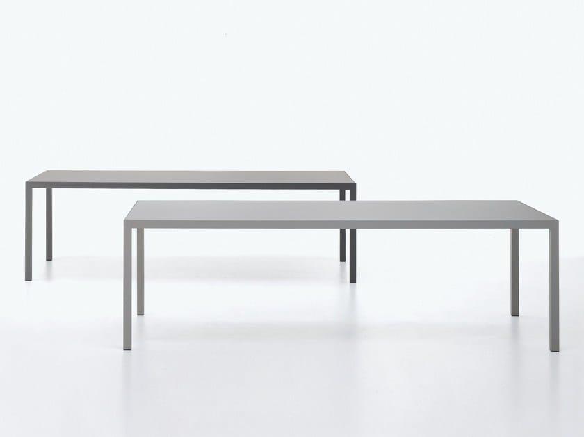 Extending aluminium table KERAMIK by MDF Italia