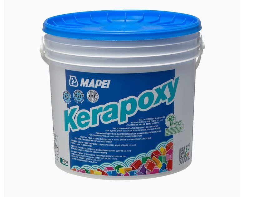 Two-component acid-resistant epoxy grout KERAPOXY By
