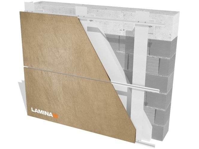 Ventilated facade KERF SYSTEM/ INVISIBLE FIXING by Laminam