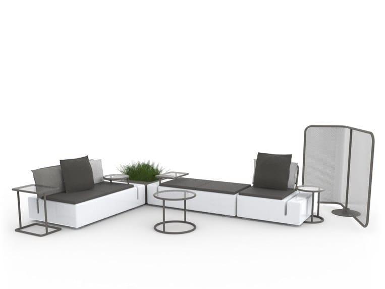 Sectional polyethylene garden sofa KES | Sectional garden sofa by VONDOM