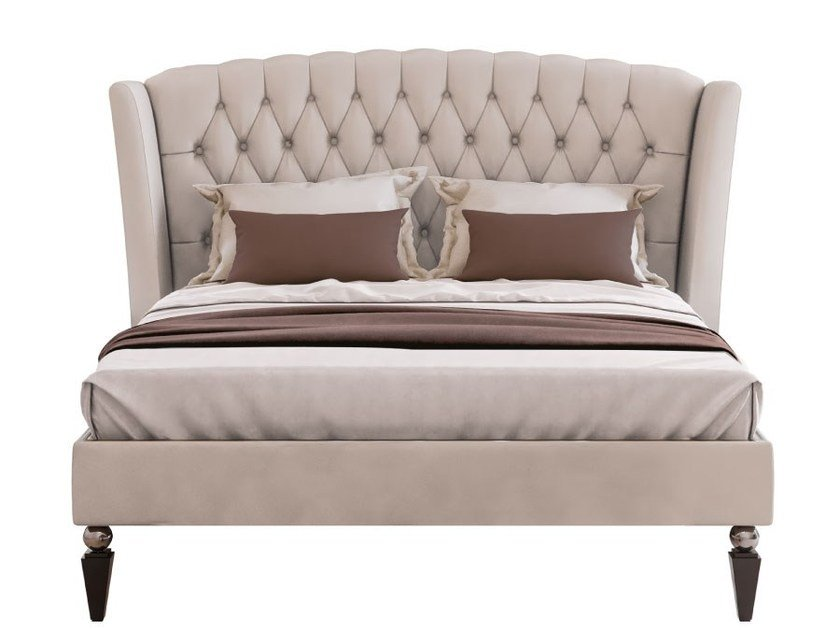 Double bed with tufted headboard KESY by Capital Collection