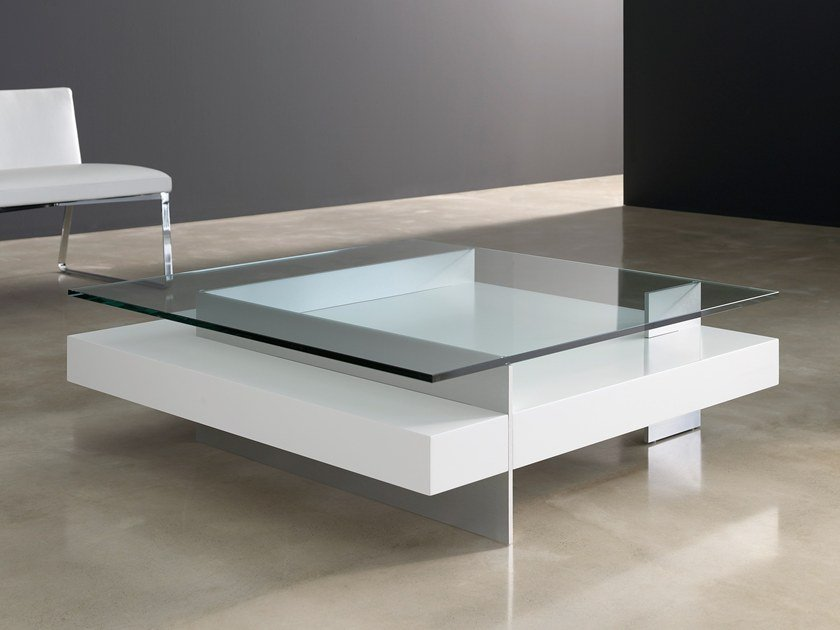 Lacquered Square Glass Coffee Table With Integrated Magazine Rack Ketel Lacquered Coffee Table By Kendo Mobiliario Design Vicente Gallega Garcia