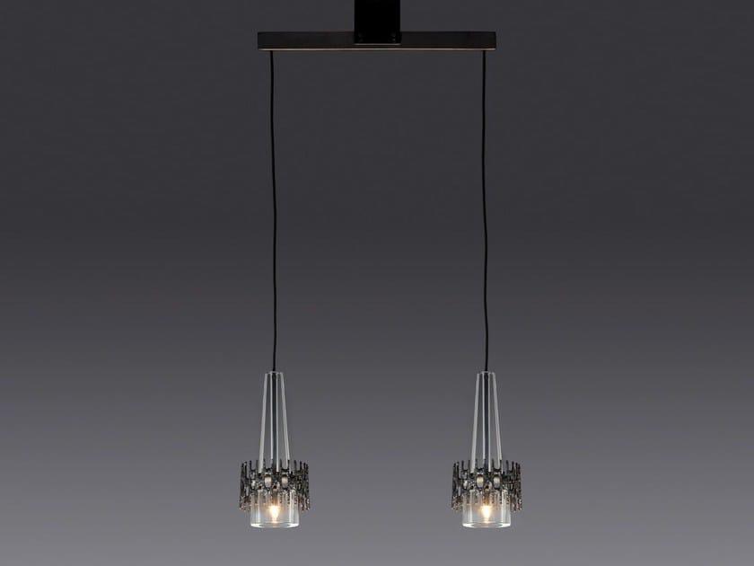 Direct light crystal pendant lamp KEULE 2 by Kalmar
