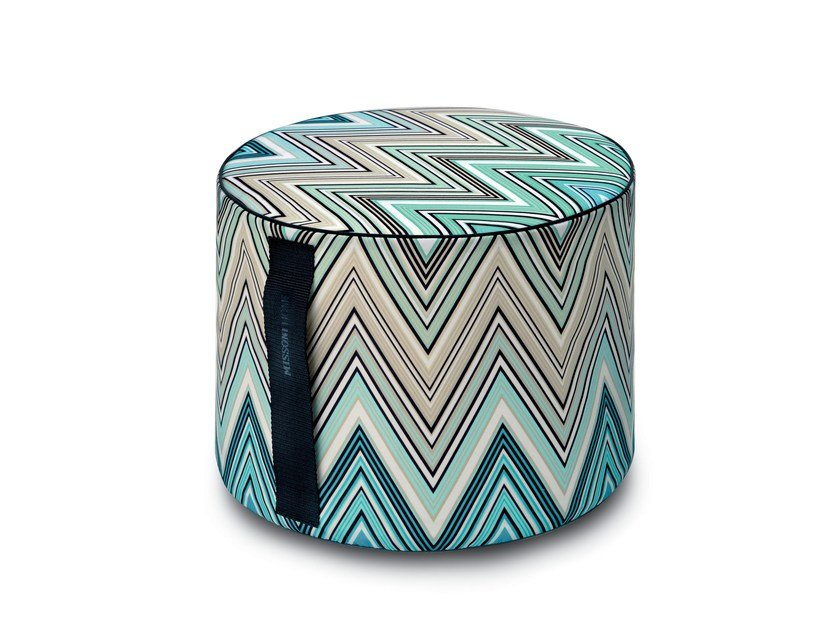 Pouf with removable lining KEW OUTDOOR | Pouf by MissoniHome