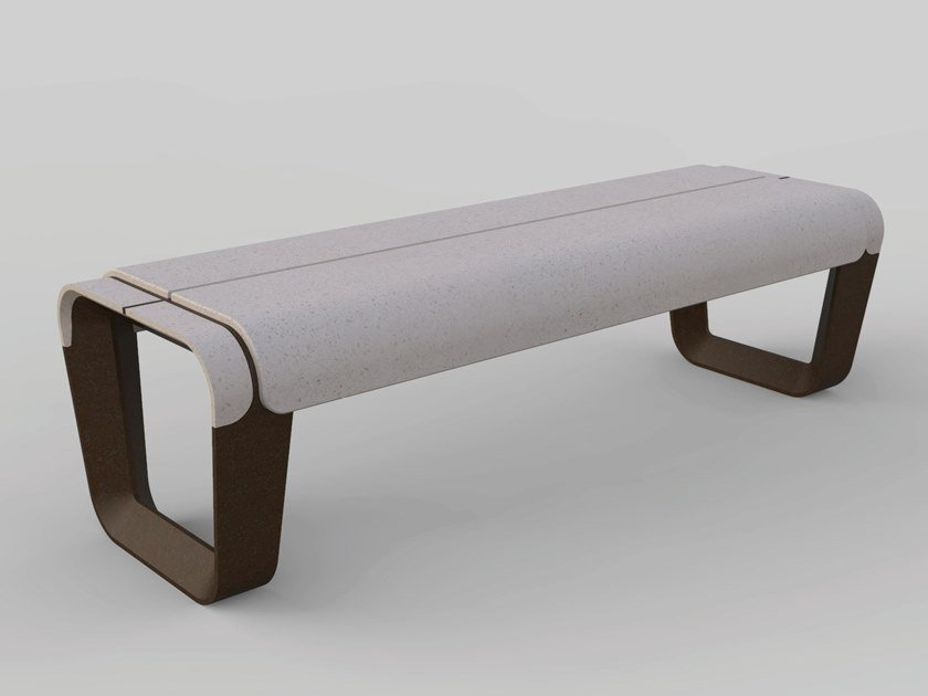 Contemporary style backless composite material Bench KEY | Backless Bench by Manufatti Viscio