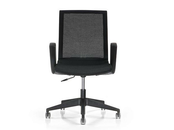 Task chair with 5-Spoke base with casters KEY | Task chair with armrests by Diemme