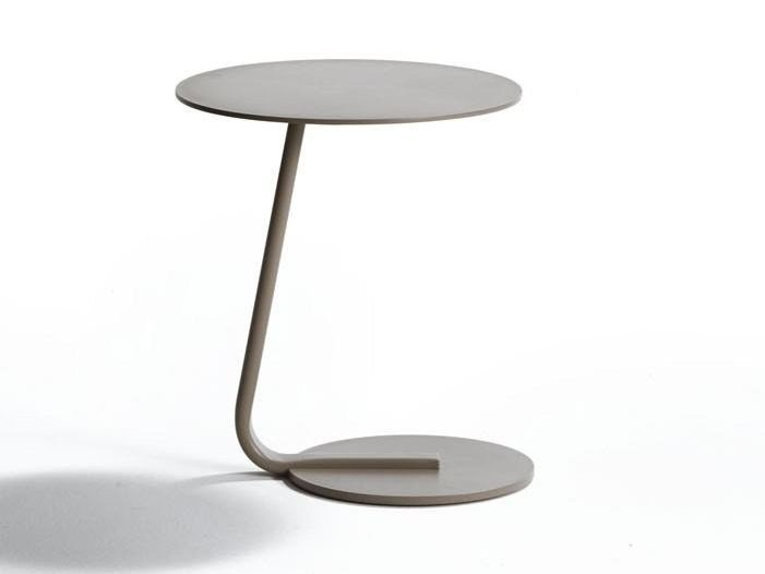 Round Aluminium Garden Side Table KEY WEST | Round Coffee Table By Roberti  Rattan