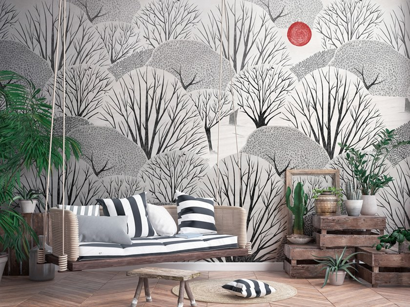 Nonwoven wallpaper KI by Tecnografica