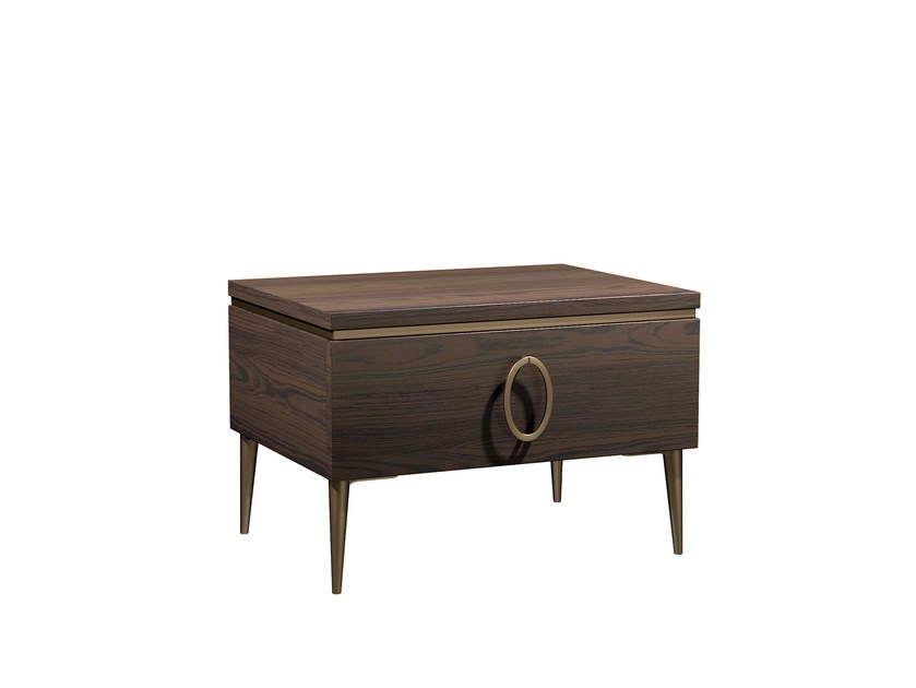 Solid wood bedside table with drawers KIA | Bedside table by Capital Collection