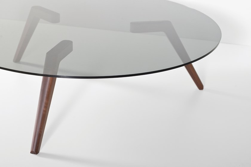 Round glass coffee table KIARA by Hemonides
