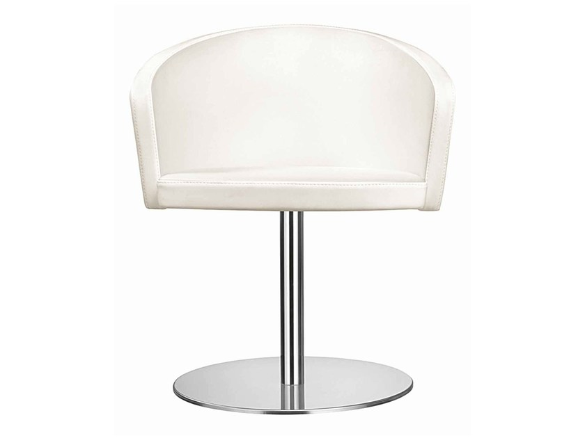 Swivel upholstered chair Kicca 019 by Metalmobil