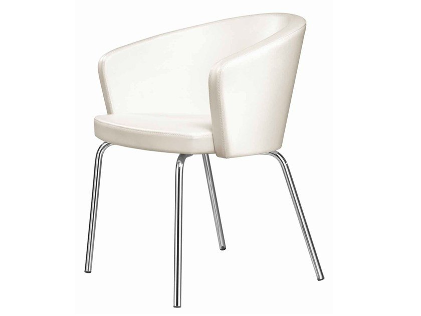 Upholstered restaurant chair Kicca 020 by Metalmobil
