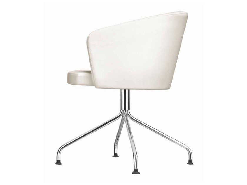 Upholstered reception chair Kicca 021 by Metalmobil