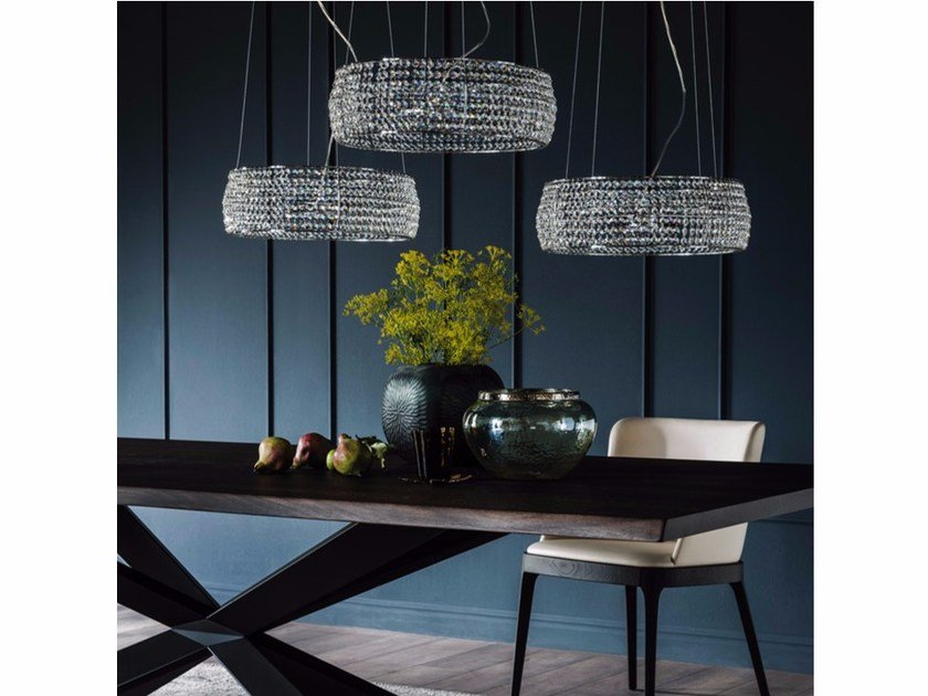 Crystal pendant lamp KIDAL by Cattelan Italia