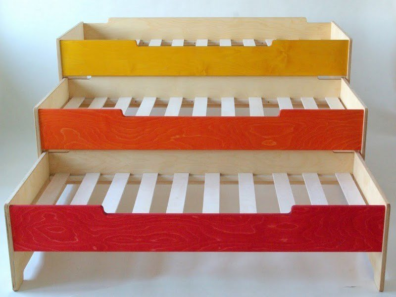 Trundle plywood bed KIDS by Radis