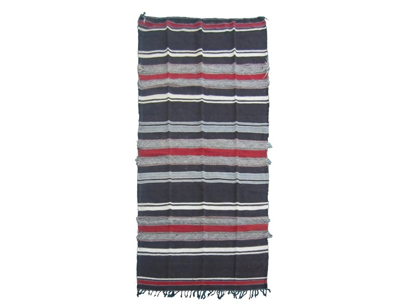 Contemporary style striped rectangular wool rug KILIM TA523BE by AFOLKI