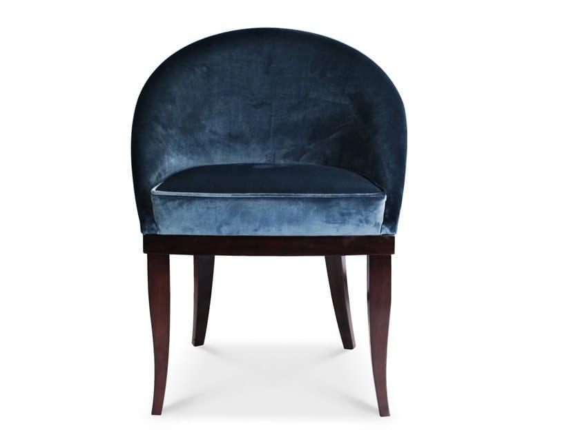 Upholstered velvet chair KIM | Chair by Ottiu