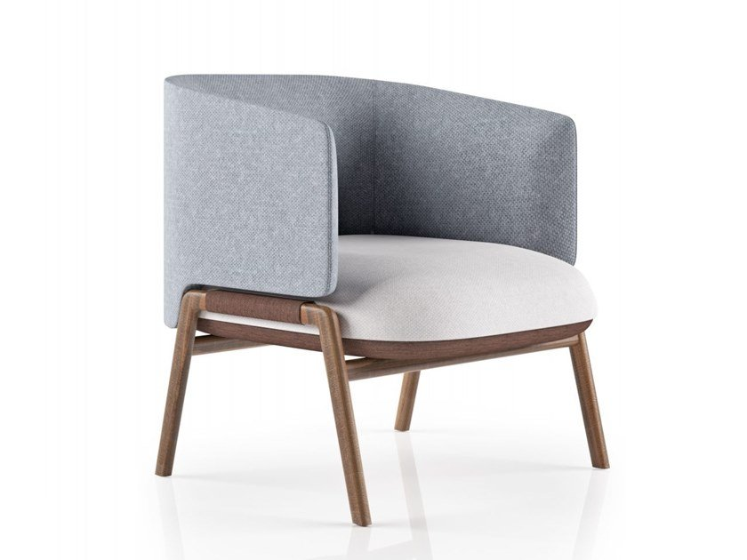 Fabric easy chair with armrests KIM | Easy chair by La Manufacture du Design