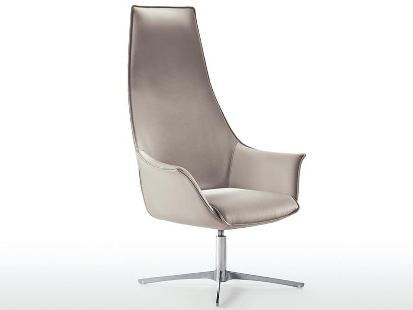 High-back armchair with 4-spoke base KIMERA | Armchair by Kastel