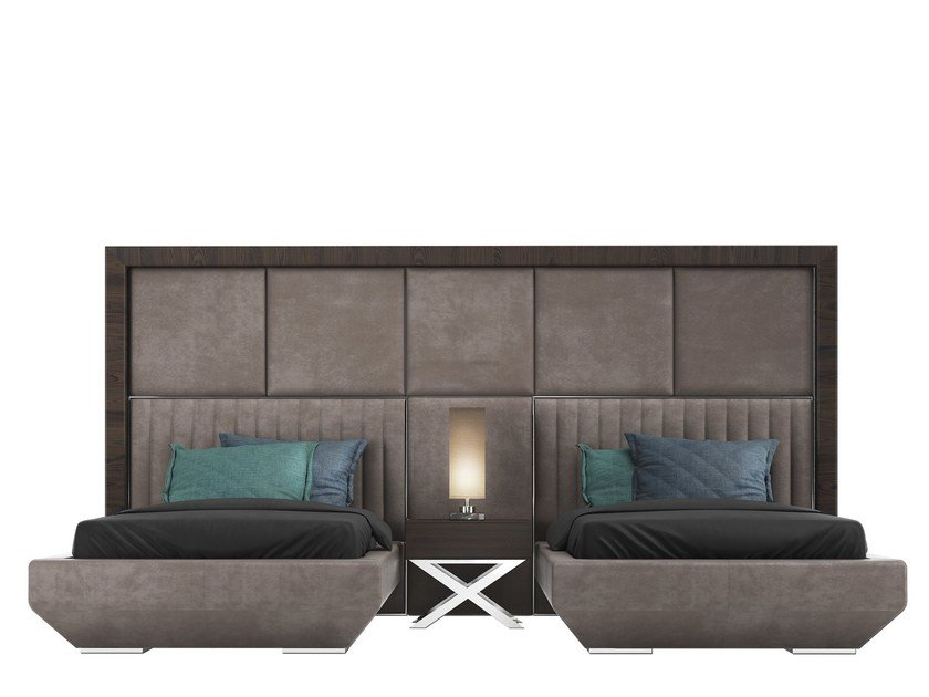Single bed with upholstered headboard KIMERA TWIN by Capital Collection