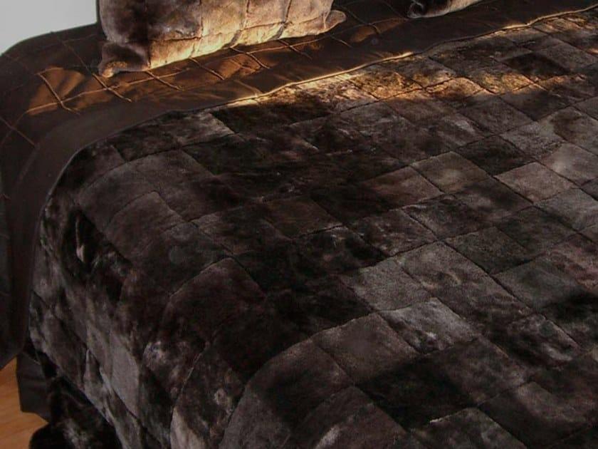 Natural fur throw and cushions KIMI by Miyabi casa