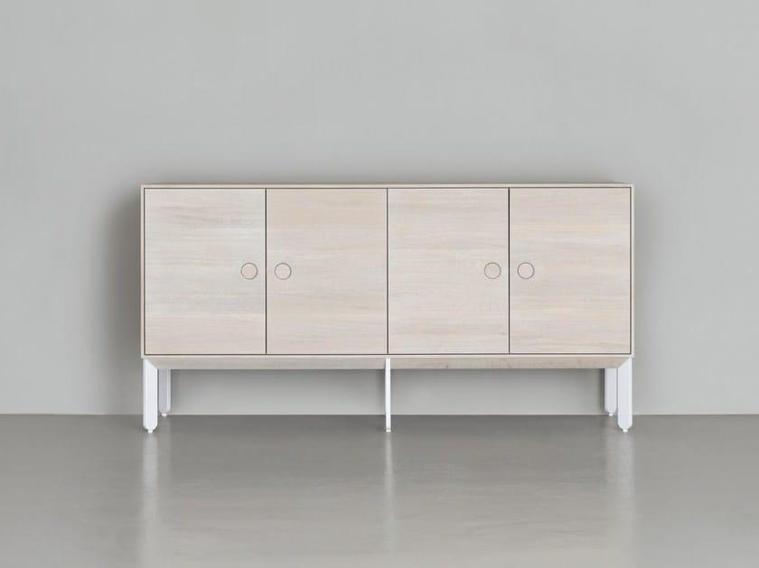 Solid wood sideboard with doors KIN LONG | Sideboard by ZEITRAUM