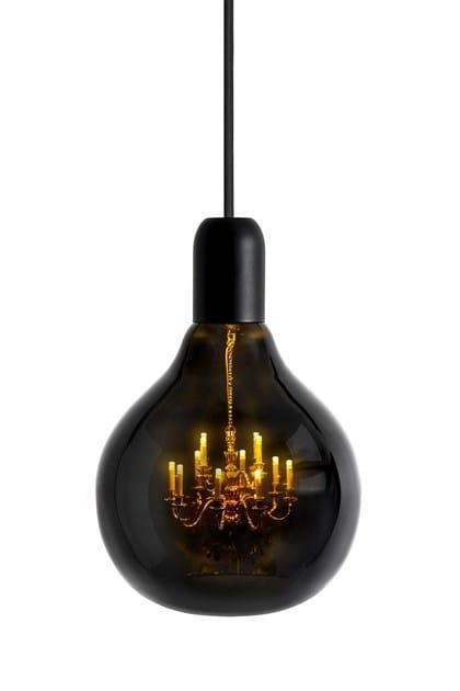 Blown glass pendant lamp KING EDISON GHOST by Mineheart
