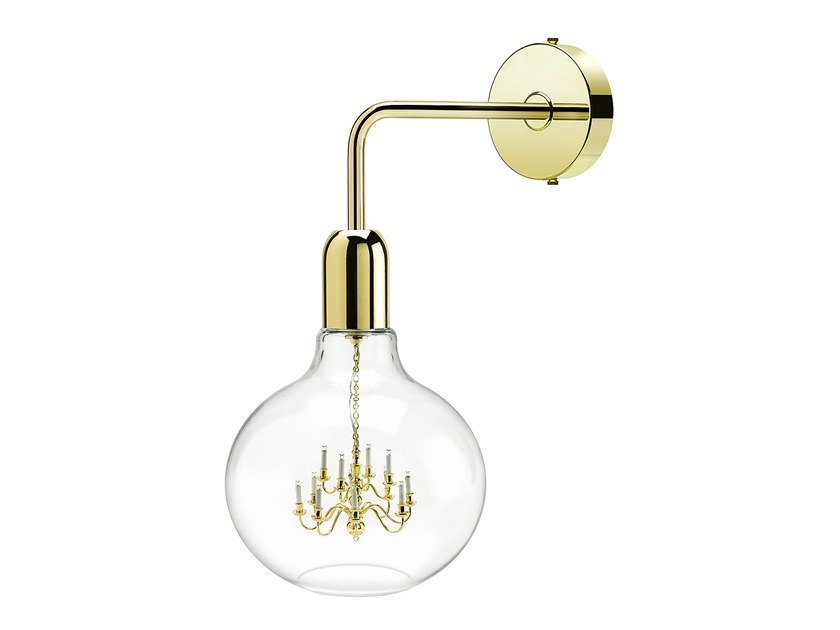 LED blown glass wall lamp KING EDISON | Wall lamp by Mineheart