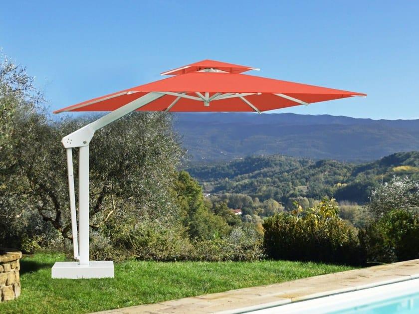 Parasol orientable excentré en aluminium KING By Ombrellificio Poggesi
