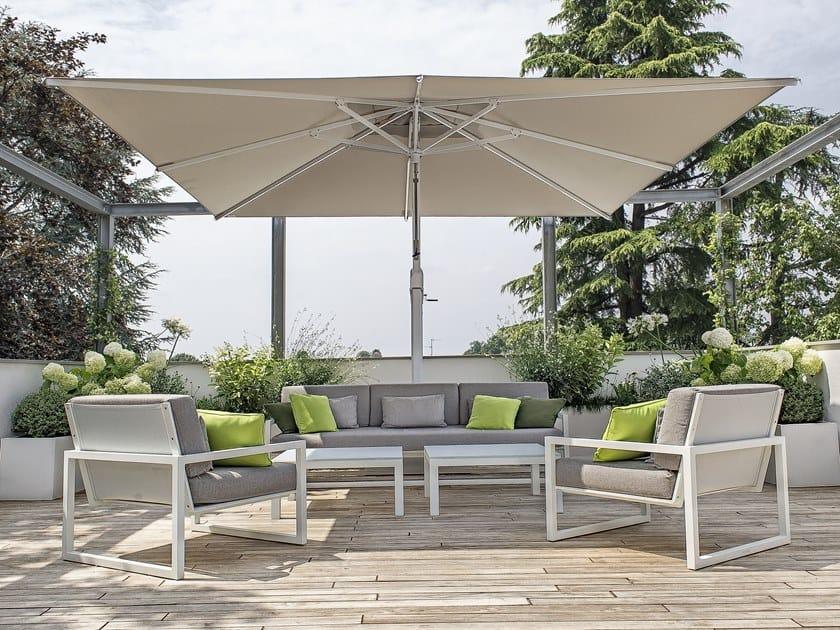 Adjustable offset aluminium Garden umbrella KING by Ombrellificio Poggesi