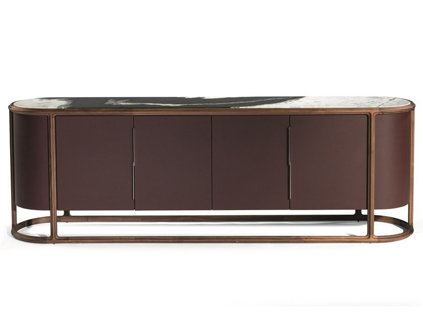Lacquered solid wood sideboard with doors KING'S CROSS | Sideboard by Visionnaire