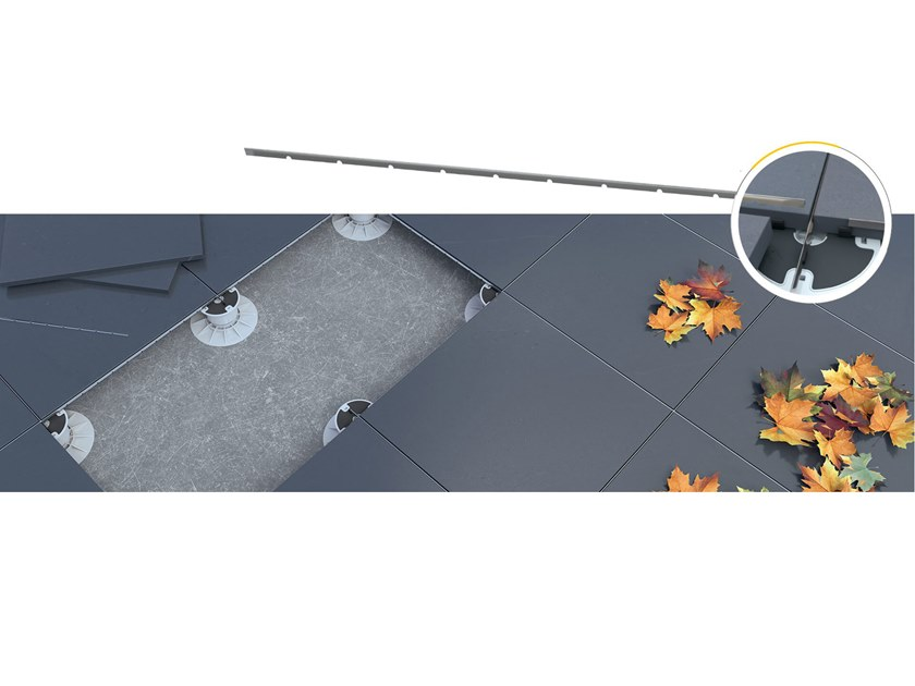 Modular system for raised flooring KING®-SPACE METAL by DPS FLOOR