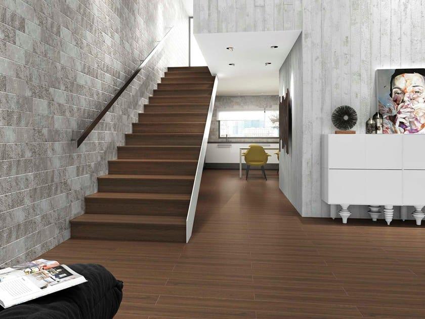 Pavimento in gres porcellanato effetto legno KIOTO WENGUE by Exagres