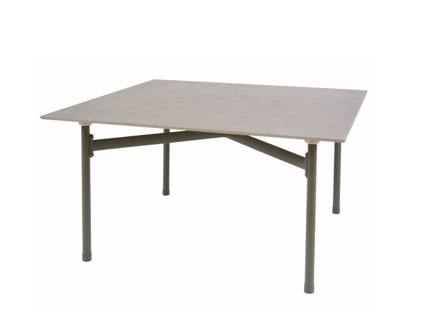 Low square garden side table KIRA | Low coffee table by emu
