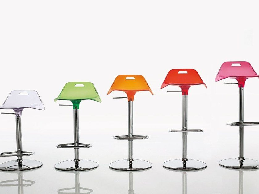 High swivel steel stool KIRON by ALIVAR