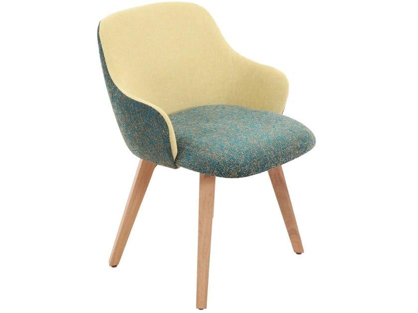 Fabric chair with armrests KISASA | Fabric chair by ALANKARAM