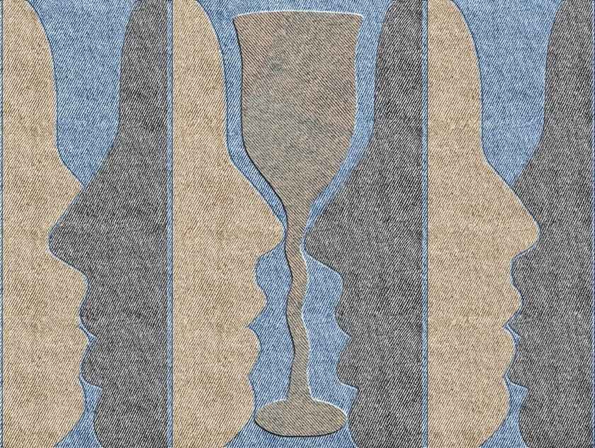 Graphic wallpaper, PVC free, eco, washable KISS A DRINK by Wallpepper