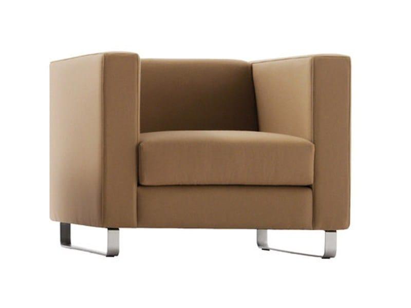 Sled base fabric armchair KISS | Armchair by Sancal