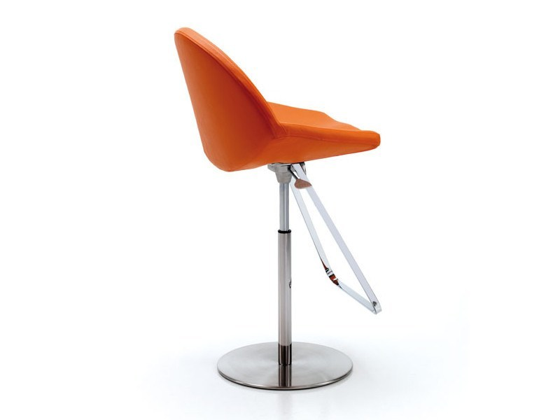 Swivel counter stool with footrest KISS by Cattelan Italia