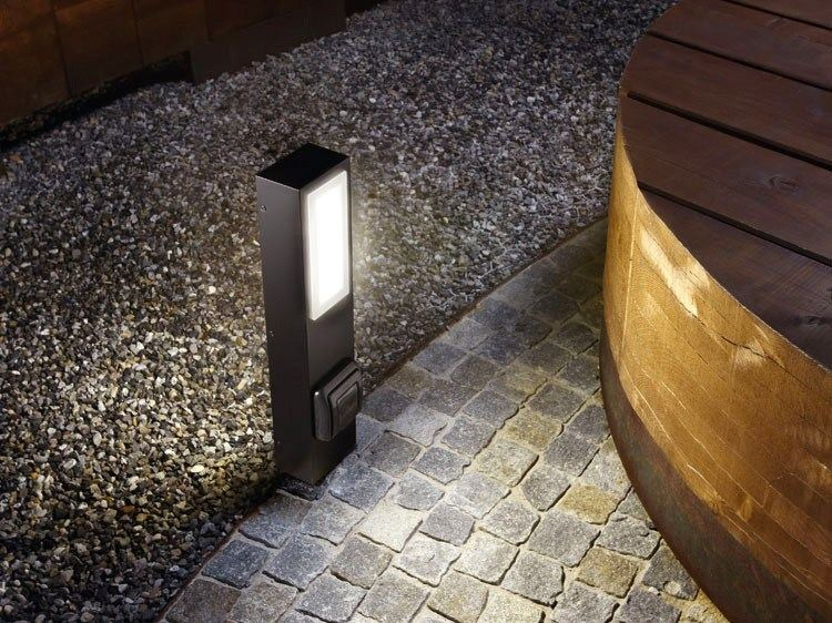 LED technopolymer bollard light KIT-01 STILE NEXT POST by Lombardo