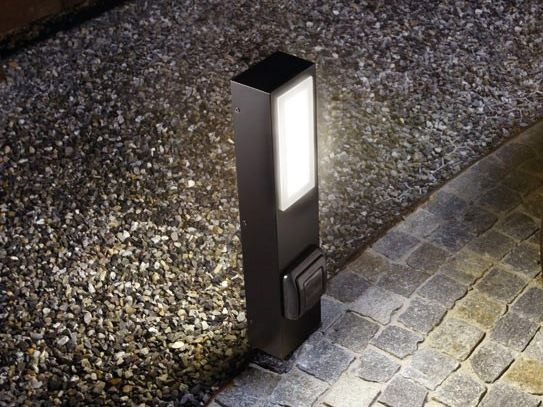 LED technopolymer bollard light KIT-03 STILE NEXT POST by Lombardo